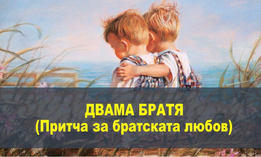 ДВАМА БРАТЯ (Притча за братската любов)